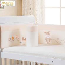 婴爱婴儿床上用品四季通用宝宝床品四件套可拆洗儿童婴儿床围套件 米色快乐旅行 105*60cm(适合100*56cm和104*5