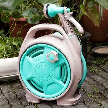 佳百丽 家用高压洗车水枪水管收纳架 浇花软管刷车神器园艺水管车 一体式便携收纳架带13.8米水管