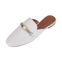 京东国际 COACH/蔻驰 女士尖头SOFI单鞋拖鞋穆勒鞋FG4186 【M】白色FG4186CHK 6.5