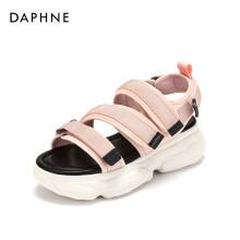 达芙妮/Daphne夏季凉鞋女迷彩厚底运动休闲街头风魔术贴沙滩鞋