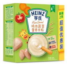 京东超市亨氏(Heinz)米粉婴儿辅食 米糊鸡肉蔬菜营养米粉超值装含益生元(6-36个月适用)400g