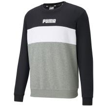 彪马 PUMA 男子 基础系列 PUMA BLOCK Crew 运动 针织卫衣 587156 01黑色 M码(亚洲码)