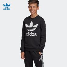 adidas阿迪达斯三叶草2020春夏季大男童卫衣ED7797黑152/建议身高152cm