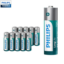 京东超市飞利浦(PHILIPS)5号电池碳性电池10粒 适用于低功耗玩具/遥控器/闹钟/计算器等五号AA干电池