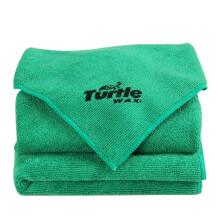 龟牌(Turtle Wax) 洗车毛巾 擦车布专用加厚不留痕清洁抹布玻璃一套擦全车汽车用品 40*40 (3条装)  TW-169*3