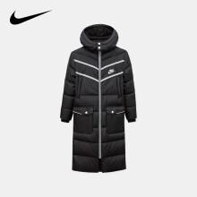 NIKE耐克中性大童冬季中长款羽绒服正黑色尺码160/L货号94417JK277-023