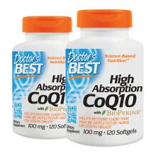 京东国际Doctor's Best多特倍斯高吸收辅酶Q10软胶囊(含黑胡椒素)100mg*120粒*2瓶
