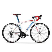 欧亚马 OYAMA流星2.5铝合金破风弯把16变速700C入门竞速公路自行车 480mm白蓝