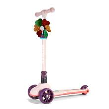 京东超市 运动伙伴 儿童滑板车 2-4-6-12岁小孩滑滑车 闪光滑步车摇摆车 可折叠升降宝宝平衡车脚踏车免安装 蓝色 升级款滑板车【粉色】