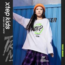 特步(XTEP)童装儿童上衣男女童品牌街舞潮服休闲运动服 680426039094 白色 165cm