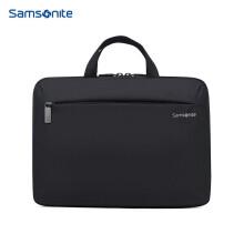 新秀丽手提电脑包14英寸单肩斜跨包 Samsonite苹果笔记本内胆包BP5黑色