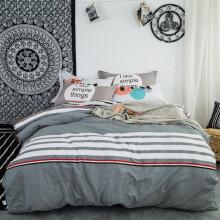 京东超市北极绒 四件套纯棉床笠款 全棉套件床上用品被罩双人床被套200*230cm 品调 1.5米床笠款