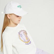 安奈儿x迪士尼公主联名系列童装女童卫衣长袖2021年印花女孩套头衫宽松上衣