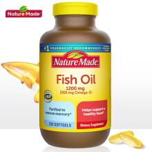 京东国际【美国进口】Nature Made天维美 无腥味深海鱼油液体软胶囊 全家分享装220粒/瓶  欧米伽3