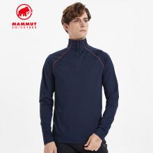 MAMMUT猛犸象Snow秋季新品中层内搭上衣弹性保暖透气套头运动衫男 深海蓝色 XL