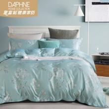【田园风】黛富妮家纺 床上用品四件套莫代尔清新花卉印花床单*1被套*1枕套*2 似水清恬 1.5米(5英寸)床床单款