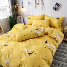 喜寝来 床上三件套学生宿舍上铺下铺用套件单人三件套双人双人床上用品套件单双人床单被套枕套 鹅鹅鹅HS 1.0/1.2米三件套(被套150*200cm)