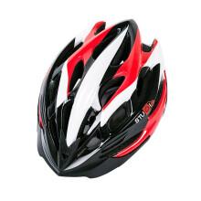 MOON STUDIO自行车公路骑行山地车头盔一体成型男女单车装备安全帽超轻自行车配件 常规版黑红白相间 L码(58-61cm)