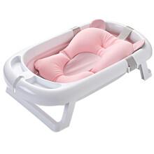 京东超市日康(rikang)浴盆 婴儿洗澡盆婴儿折叠浴盆 新生儿童宝宝洗澡盆 带浴网适用0-3岁 粉色