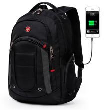 SWISSGEAR背包男女多功能双肩包笔记本电脑包15.6英寸大容量防泼水旅行包 SA-9603黑色