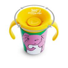 京东国际满趣健Munchkin 360°宝宝印花学饮杯儿童水杯宝宝魔术杯带手柄177ml 小象