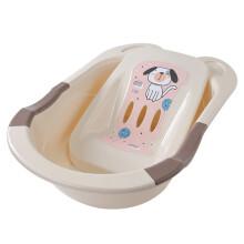 京东超市日康(rikang) 浴盆 婴儿洗澡盆婴儿浴盆 新生儿宝宝洗澡盆带浴床 坐躺两用 加大加厚适用0-6岁 米色 RK-3626