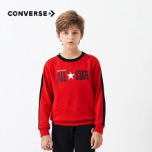 Converse匡威儿童长袖卫衣男童套头长袖上衣打底衫CNVB-FW-9590 学院红120(6)