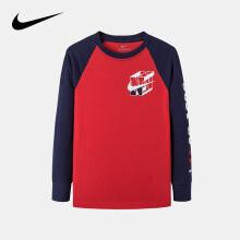 京东超市 Nike 耐克婴童装男童纯棉卫衣秋冬儿童圆领套头卫衣男孩上衣3-4岁110/52(S)学院红婴童