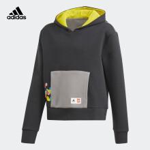 adidas阿迪达斯2021春季女大童卫衣GN6802黑A140/建议身高140cm