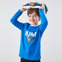 京东超市安奈儿童装男童T恤纯棉2020迪士尼儿童洋气卫衣秋疯狂动物城