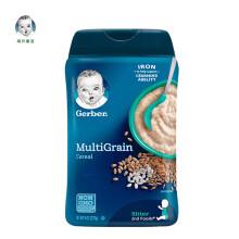 京东国际嘉宝Gerber  婴儿米粉 混合谷物营养米粉 二段(6个月以上) 227g/罐  美国原装进口