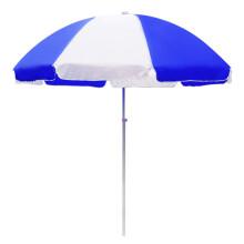 鲸伦 遮阳伞户外大伞摆摊伞 庭院太阳伞沙滩伞 广告印刷宣传伞大型伸缩钓鱼伞 2米蓝白色TYS-BW200
