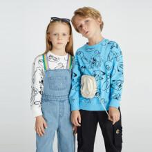 安奈儿x迪士尼疯狂动物城联名男童女童春装卫衣圆领长袖2021年上衣打底外穿
