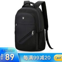 爱华仕(oiwas)双肩包商务 时尚简约电脑包14英寸男女包 4082黑色