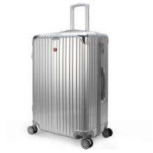 京东超市SWISSGEAR 瑞士拉杆箱28英寸差旅超大容量轻便行李箱静音万向轮旅行箱托运箱男女密码箱皮箱 VP760302银色
