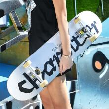 运动伙伴 滑板初学者专业板男女成年青少年儿童成人滑板车刷街四轮双翘滑板 滑板【银挑战者】