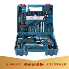 博世(BOSCH)GSB 600 RE 13毫米600瓦手电钻电动工具箱 多功能冲击钻套装(99附件+手动工具)强化升级版