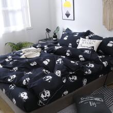 煌华家纺 卡通四件套春秋1.5m1.8米1.2床单被套床上用品单双人床学生宿舍三件被罩4卓尔曼 小熊猫 1.2m床三件套【被套1.5*2.0m】