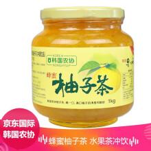 韩国进口 韩国农协 蜂蜜柚子茶 水果茶蜜炼果酱 大瓶装 1000g/ 瓶 冲饮柚子果味