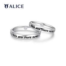 ALICE爱丽丝珠宝 18K金钻石结婚对戒 情侣戒指WEnow约定戒指A款 定制款(具体圈号联系客服)