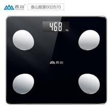京东超市香山智能体脂秤 电子秤体重秤人体秤 家用高精准体脂称12项深度身体数据监测蓝牙APP控制 IF1120D云姿炫黑