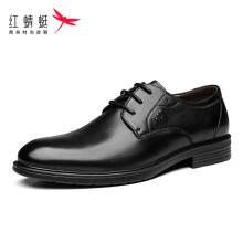 红蜻蜓 (RED DRAGONFLY)舒适商务休闲时尚系带皮鞋男 WTA73761 黑色 42