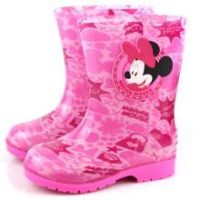 京东超市 迪士尼儿童雨鞋男童女童幼儿宝宝雨靴小童胶鞋小孩中大童水鞋防滑 14771(粉色) 31