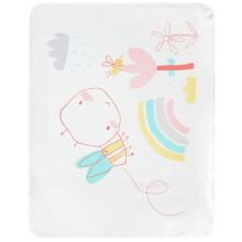 全棉时代 婴儿隔尿垫防水可洗纯棉新生宝宝大号超大防漏尿床垫床单 春意盎然90*70cm