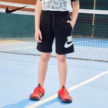京东超市【商场同款】耐克(Nike)童装男童运动短裤夏季儿童透气五分裤NY2022047PS-002正黑色130(7)