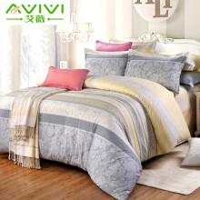 京东超市艾薇 新疆棉全棉四件套 纯棉床上用品双人被套200*230cm被罩床单枕套 1.5/1.8米床套件 美丽心情