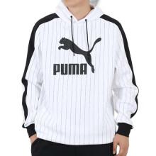 彪马 PUMA 男子 生活系列 PINSTRIPE AOP Hoodie 运动 卫衣 530179 01 L码(欧洲码) 530179 02彪马白