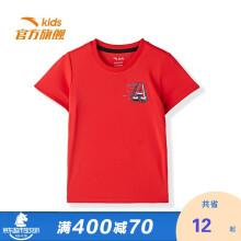 京东超市 安踏儿童官方旗舰男小童童装2021夏季短TA35129104新红-2/110