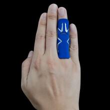 Cicodaa 护指篮球护指护手指运动保护护具装备护指套排球绑带透气沪指 篮球护指防护手指套小拇指 蓝色直筒款 s码【适合小指】