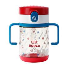 京东超市日康(rikagn))儿童水杯 宝宝学饮杯儿童吸管杯 带重力球杯子(200ml)(绛红色)